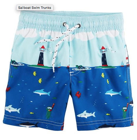 Boy's bathing suit - summer styles for kids