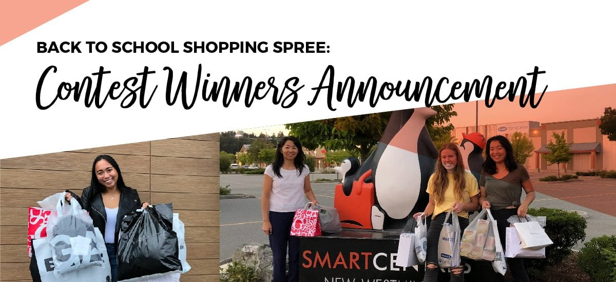 Back to School Shopping Spree: Contest Winners Announcement