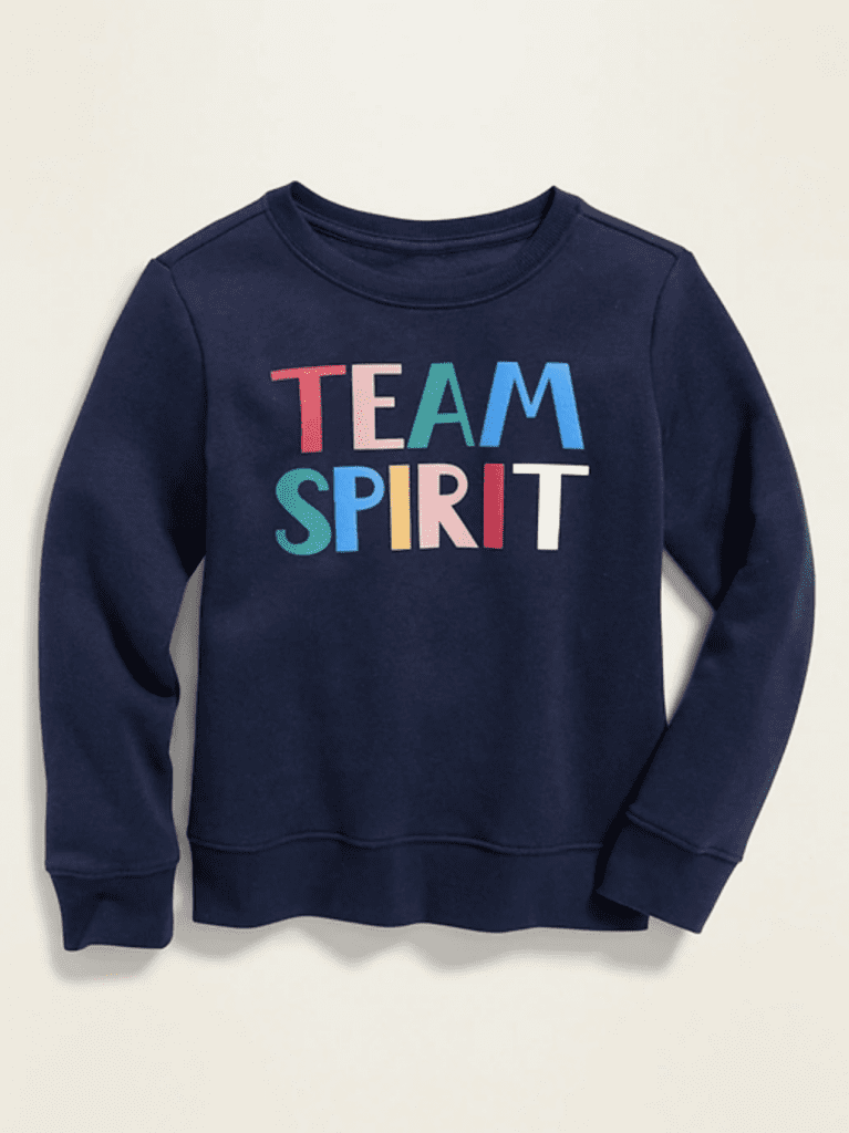 Graphic_Crew-Neck Sweatshirt for Girls