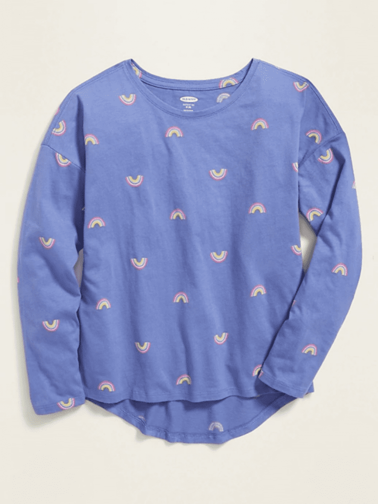 Printed Softest Long-Sleeve Crew-Neck Tee